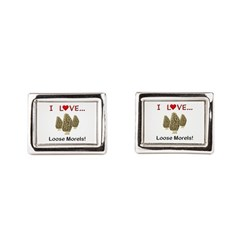Love Loose Morels Rectangular Cufflinks