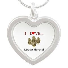 Love Loose Morels Silver Heart Necklace