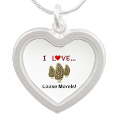 Love Loose Morels Silver Heart Necklace