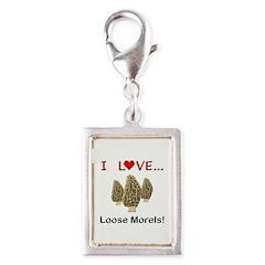 Love Loose Morels Silver Portrait Charm