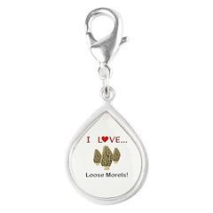 Love Loose Morels Silver Teardrop Charm
