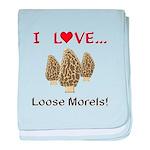 Love Loose Morels baby blanket