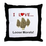 Love Loose Morels Throw Pillow