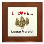 Love Loose Morels Framed Tile