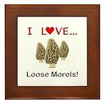 Love Loose Morels Framed Tile