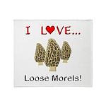 Love Loose Morels Throw Blanket