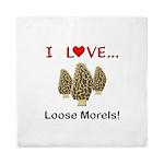 Love Loose Morels Queen Duvet