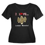 Love Loo Women's Plus Size Scoop Neck Dark T-Shirt