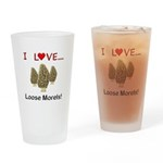 Love Loose Morels Drinking Glass