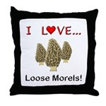 Love Loose Morels Throw Pillow