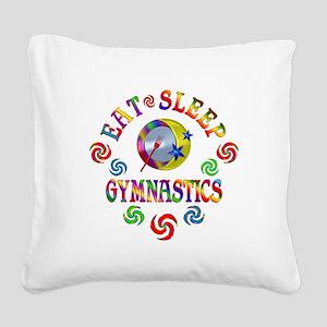 Eat Sleep Gymnastics Square Canvas Pillow