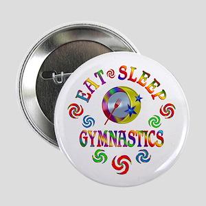"Eat Sleep Gymnastics 2.25"" Button"
