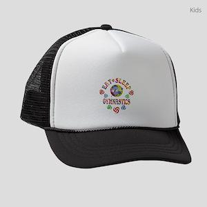 Eat Sleep Gymnastics Kids Trucker hat