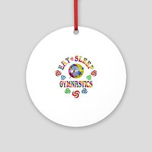 Eat Sleep Gymnastics Round Ornament