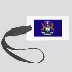 Flag of Michigan Large Luggage Tag