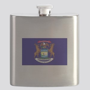 Flag of Michigan Flask
