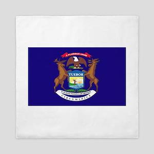Flag of Michigan Queen Duvet