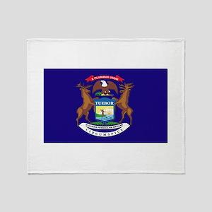 Flag of Michigan Throw Blanket