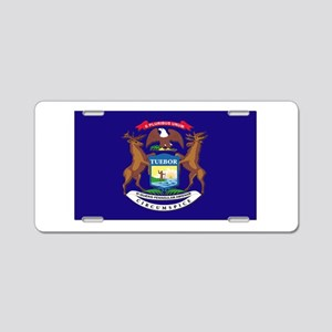 Flag of Michigan Aluminum License Plate