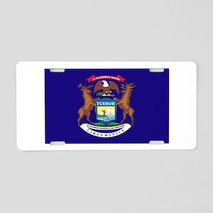 Flag of Michigan Aluminum License Plate