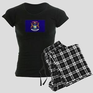 Flag of Michigan Women's Dark Pajamas