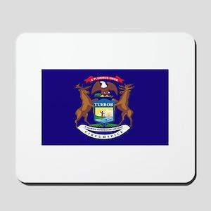 Flag of Michigan Mousepad