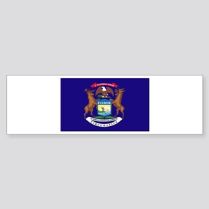 Flag of Michigan Sticker (Bumper)