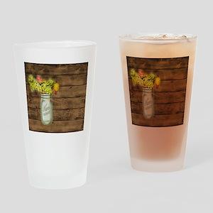 mason jar floral barn wood western country Drinkin