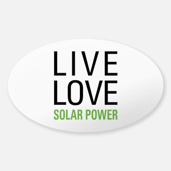 Solar Power Sticker (Oval)