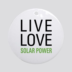 Solar Power Ornament (Round)
