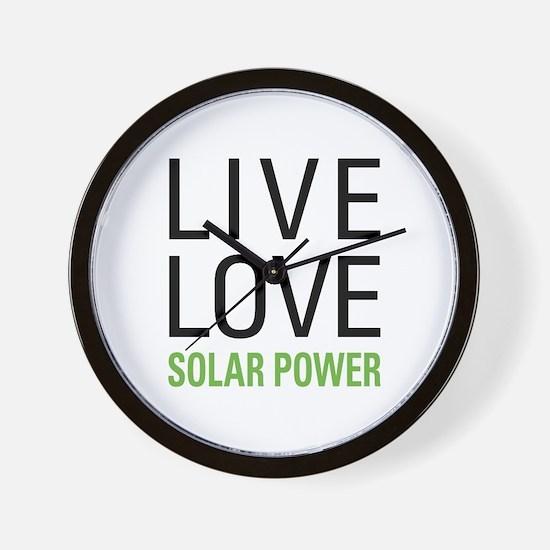 Solar Power Wall Clock