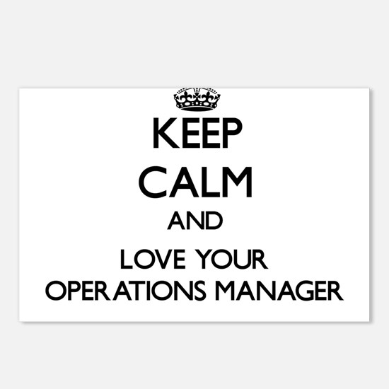 Keep Calm and Love your Operations Manager Postcar