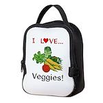 I Love Veggies Neoprene Lunch Bag
