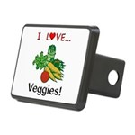 I Love Veggies Rectangular Hitch Cover