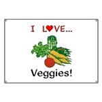 I Love Veggies Banner