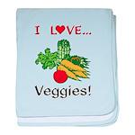 I Love Veggies baby blanket