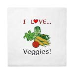 I Love Veggies Queen Duvet