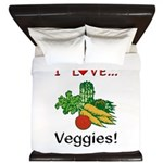 I Love Veggies King Duvet