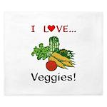 I Love Veggies King Duvet