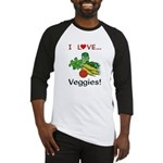I Love Veggies Baseball Jersey