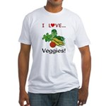 I Love Veggies Fitted T-Shirt