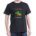 I Love Veggies Dark T-Shirt