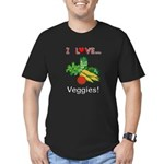 I Love Veggies Men's Fitted T-Shirt (dark)