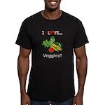 I Love Veggies Men's Fitted T-Shirt (dark)