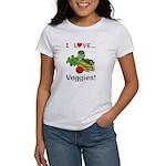 I Love Veggies Women's T-Shirt