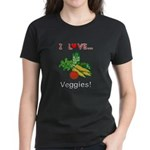 I Love Veggies Women's Dark T-Shirt