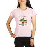 I Love Veggies Performance Dry T-Shirt