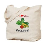 I Love Veggies Tote Bag