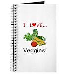I Love Veggies Journal