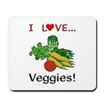 I Love Veggies Mousepad